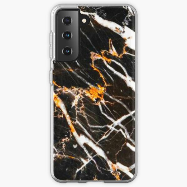 Black and gold marble Samsung Galaxy Soft Case