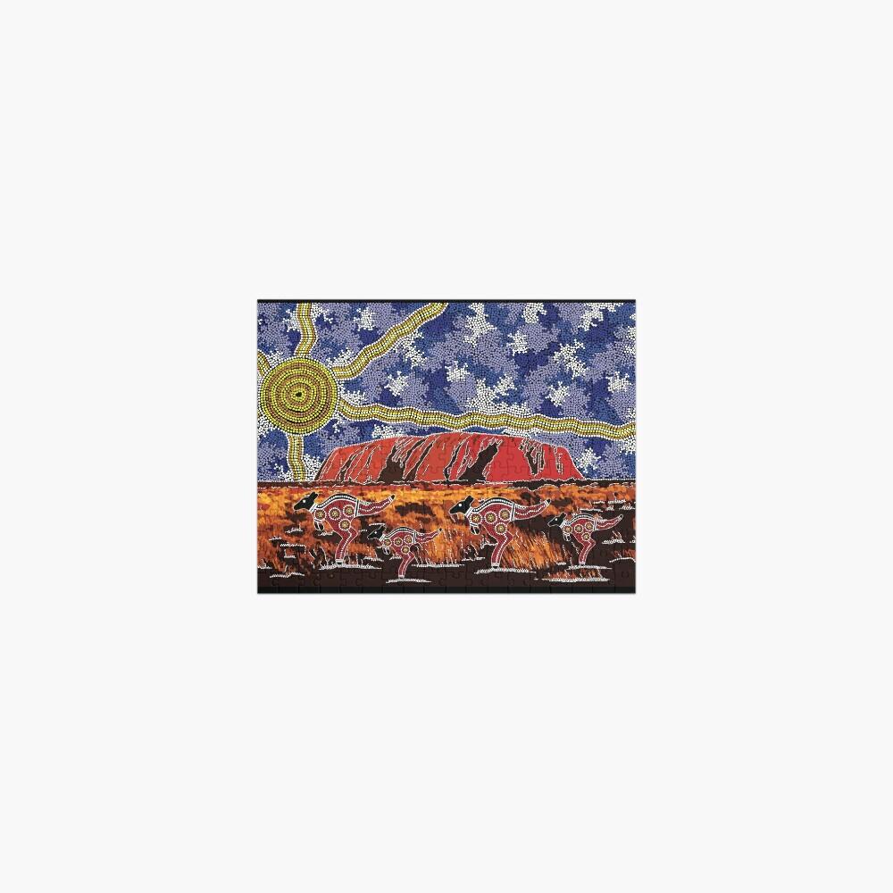 Authentic Aboriginal Art - Uluru Sky Jigsaw Puzzle