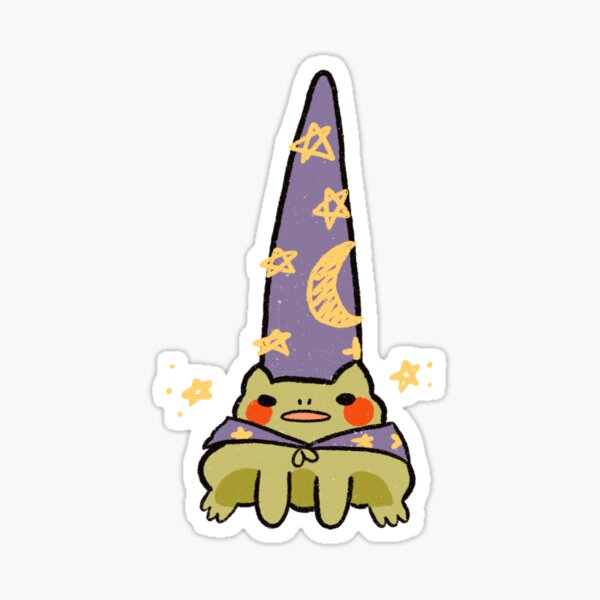Wizard frog Sticker