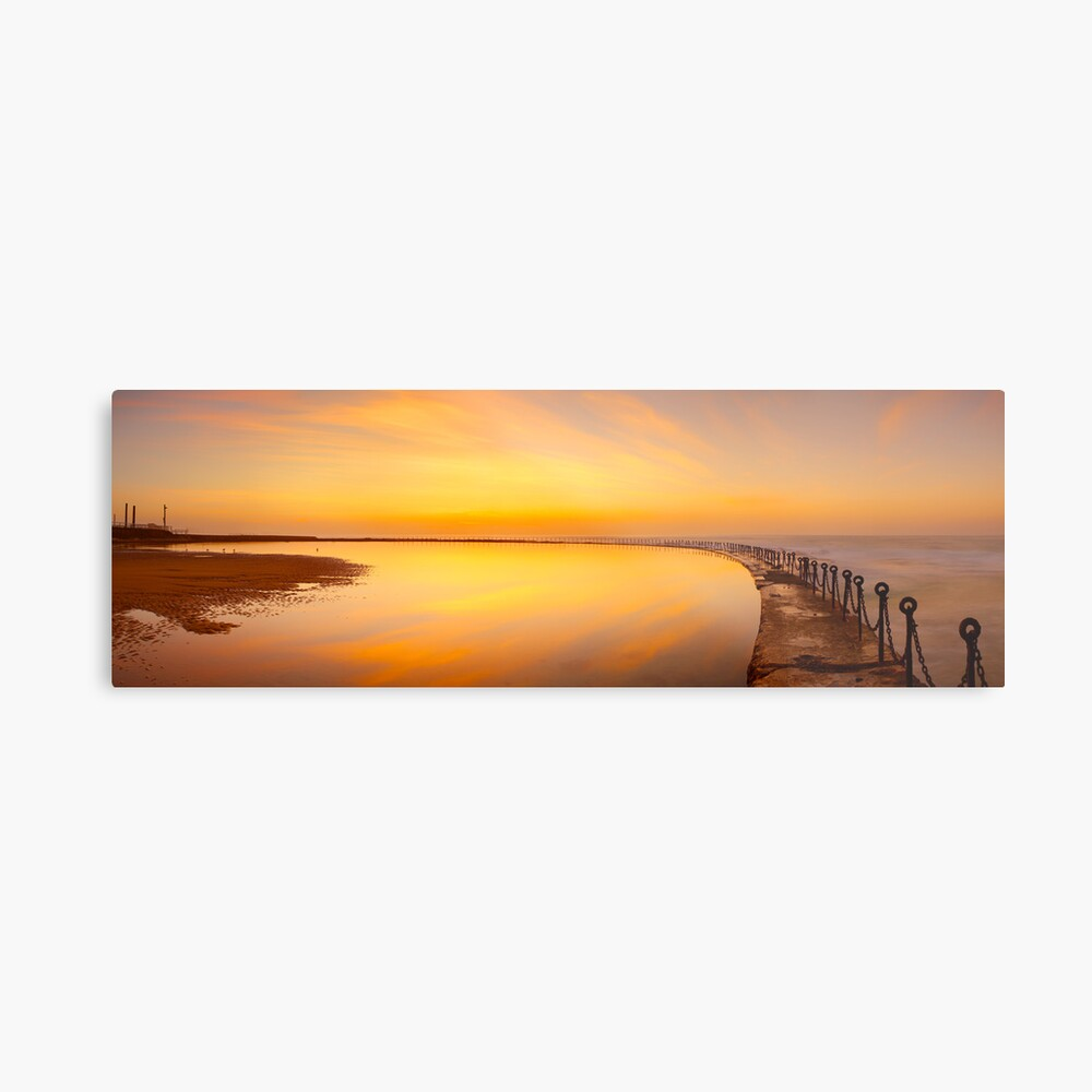 Canoe Pool, Newcastle, New South Wales, Australia Metal Print