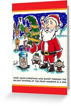 Dead Hamster Christmas Card by lcthedrawguy