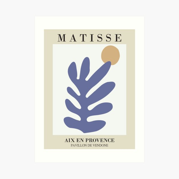 Matisse - Leaf Cut-out - Matisse Prints Art Print