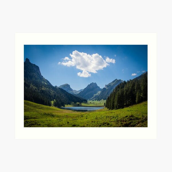 Swiss Alps and the Sämtiser See Art Print