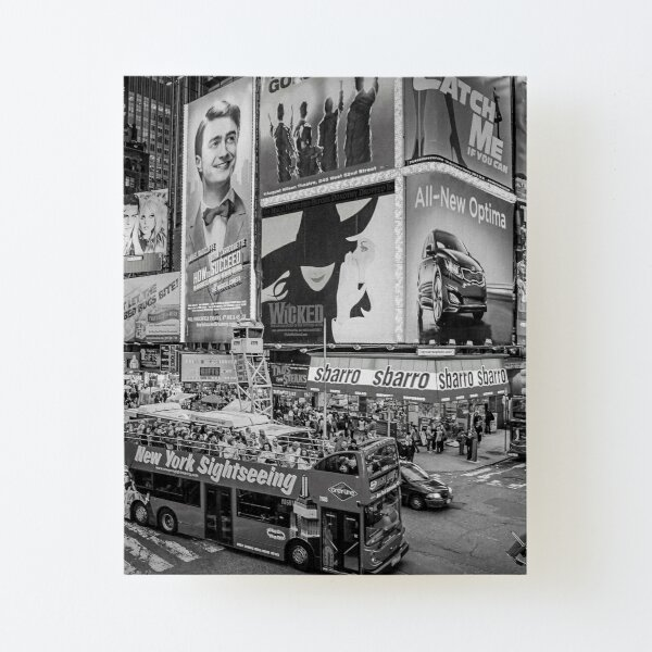 Times Square II (black and white) Canvas Mounted Print