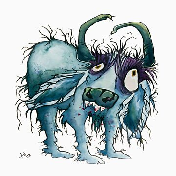 indie blue the zombiefied water buffalo  by justL