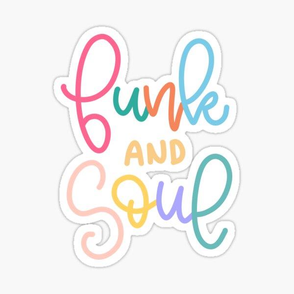 Funk and Soul (BTS Dynamite Letras) Pegatina