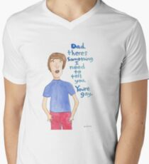 Your Dad Is Gay Men's V-Neck T-Shirt