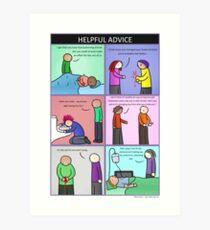 Helpful Advice Kunstdruck