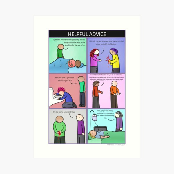 Helpful Advice Art Print