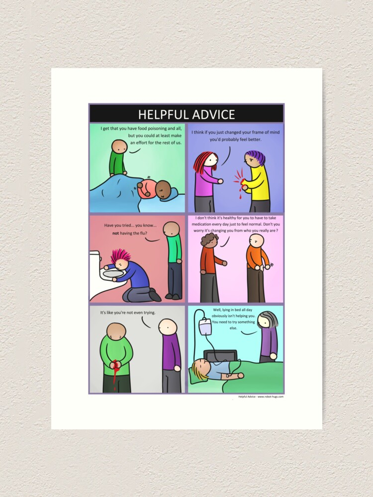 Alternate view of Helpful Advice Art Print