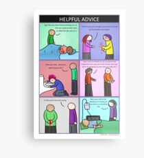 Helpful Advice Metal Print