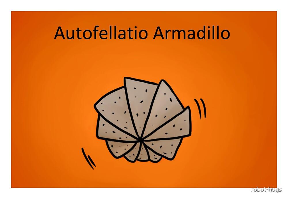 Autofellatio Armadillo by robot-hugs