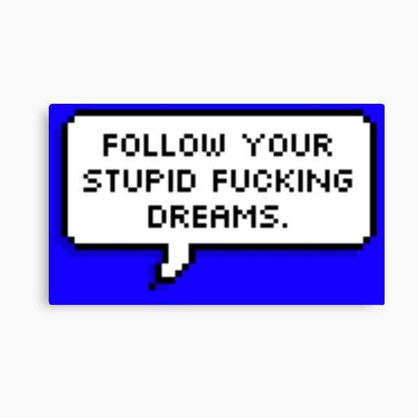 Follow Your Stupid Fluffing Dreams Canvas Print