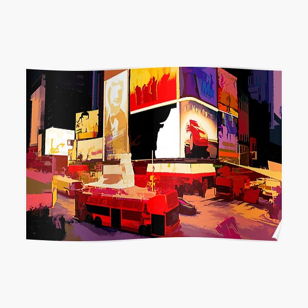 Times Square II (abstract colour print) Poster
