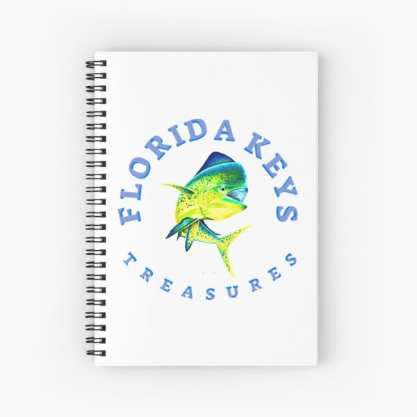 Dolphin Fish Florida Keys Treasures Spiral Notebook