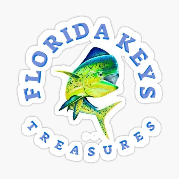 Dolphin Fish Florida Keys Treasures Sticker