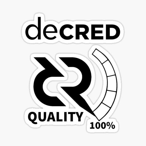 Decred quality v2 Sticker