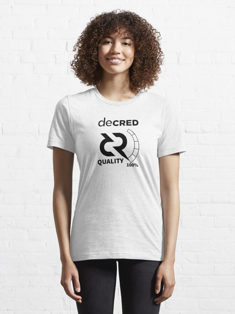 Alternate view of Decred quality v2 Essential T-Shirt