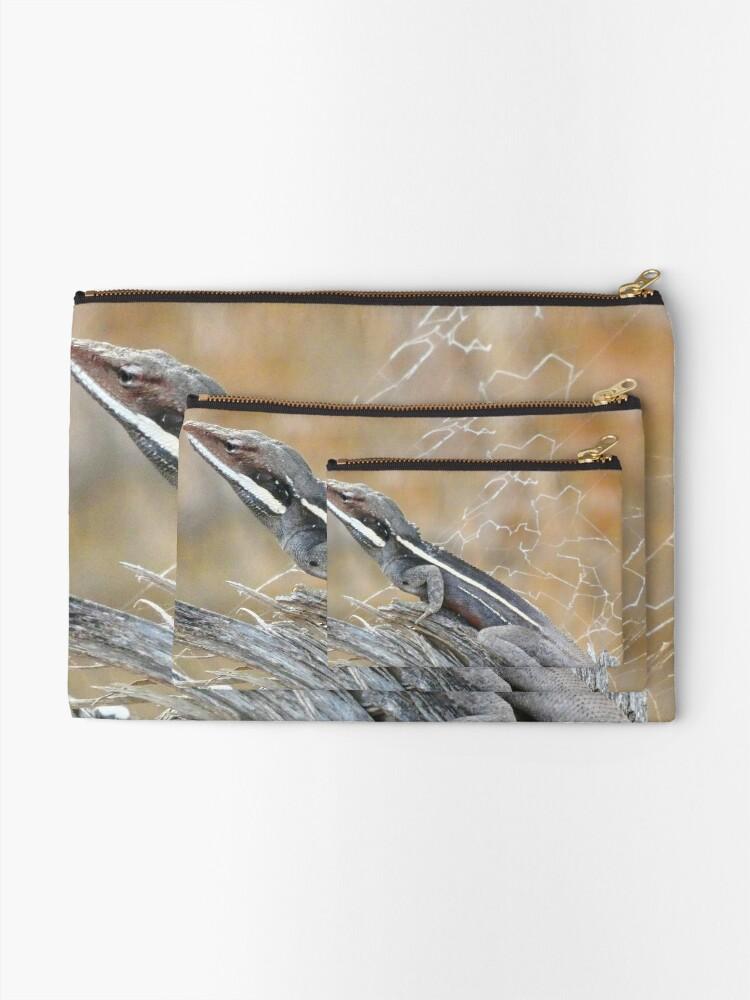 Alternate view of Gilbert's Dragon On a Log Zipper Pouch
