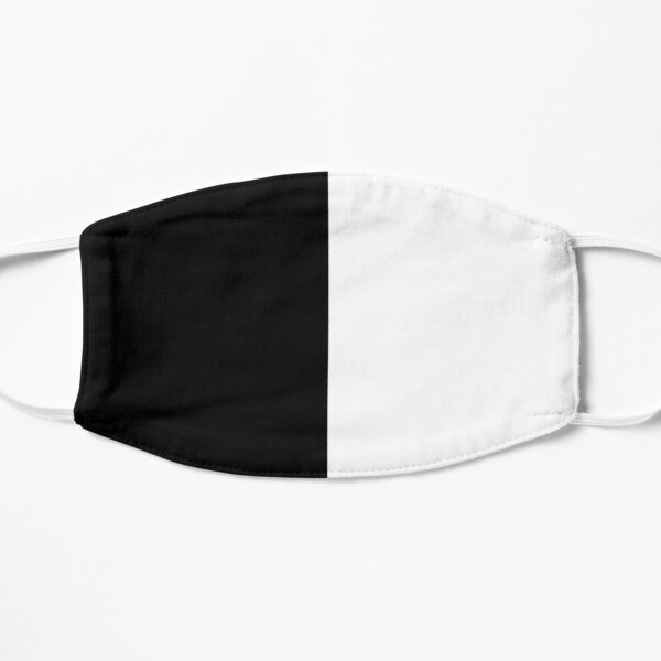 half Black half white Flat Mask