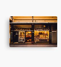 Degraves Espresso Canvas Print