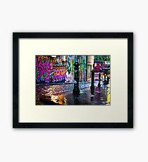 Colour on a rainy day in Hosier Lane Framed Print