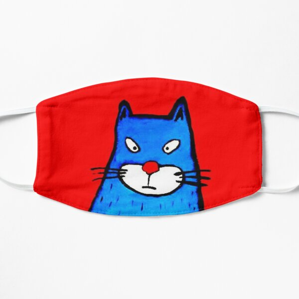 IRRITATED CAT Flat Mask