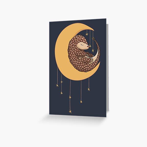 Süßes Pangolin Schuppentier Muster Grußkarte