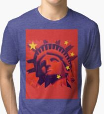 Red Liberty Tri-blend T-Shirt