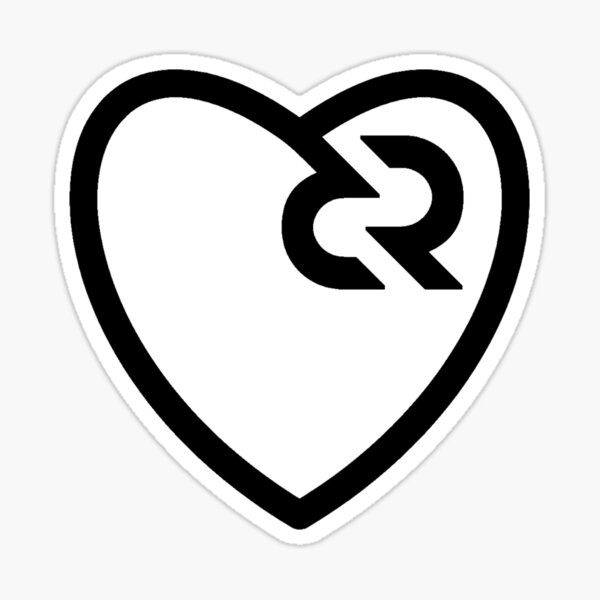 Decred heart v2 Sticker