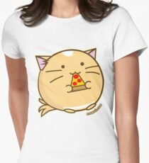 Fuzzballs Pizza Cat Womens Fitted T-Shirt