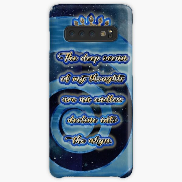 The deep ocean of my thoughts are an endless decline into the abyss. Samsung Galaxy Snap Case
