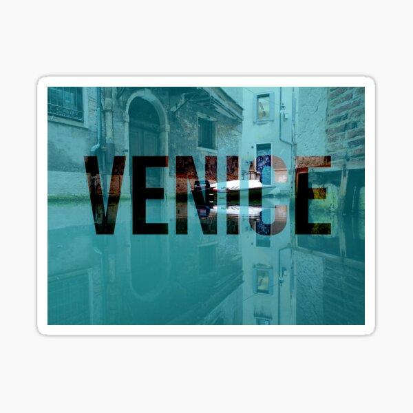Back of a Venice canal Sticker