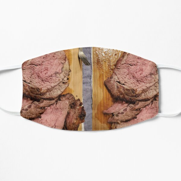 medium rare roast  - meat lovers gift  Flat Mask