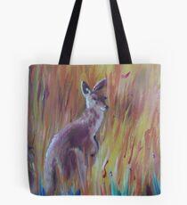 Kangaroos in Long Grass Tote Bag