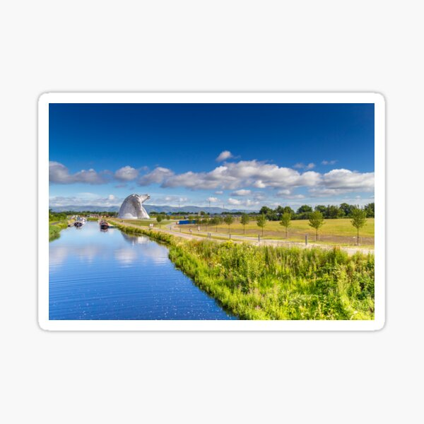The Kelpies and the Forth and Clyde Canal Sticker
