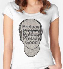 Pretaay Pretaay Good.  Women's Fitted Scoop T-Shirt