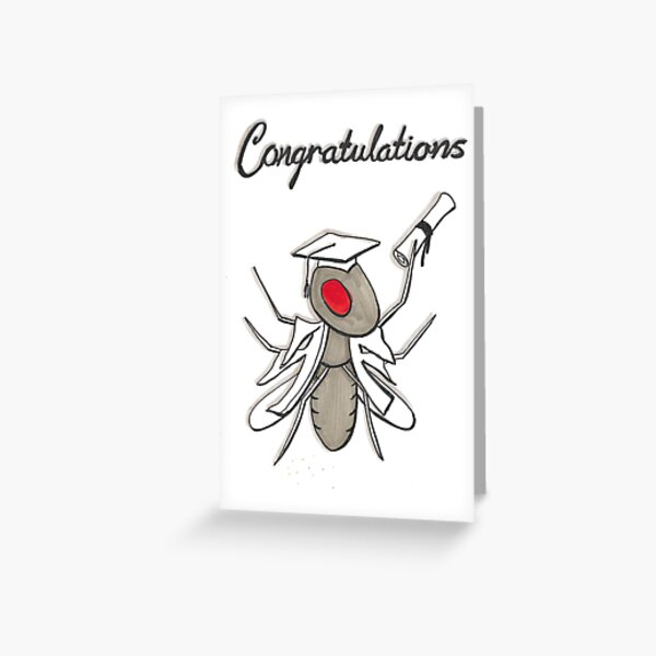 Fruit Fly Congratulations card Greeting Card