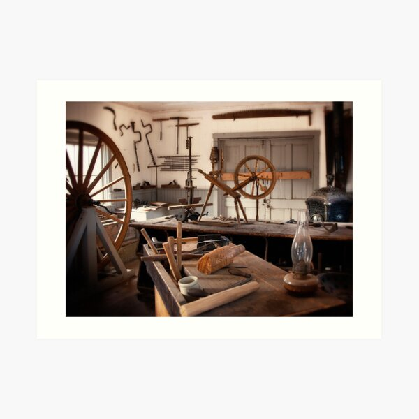 The Wood Workers Shop Art Print