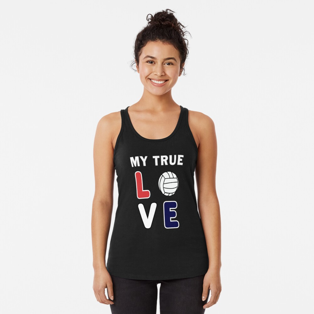 Volleyball My True Love Sportive V-Ball Team Gift. Racerback Tank Top