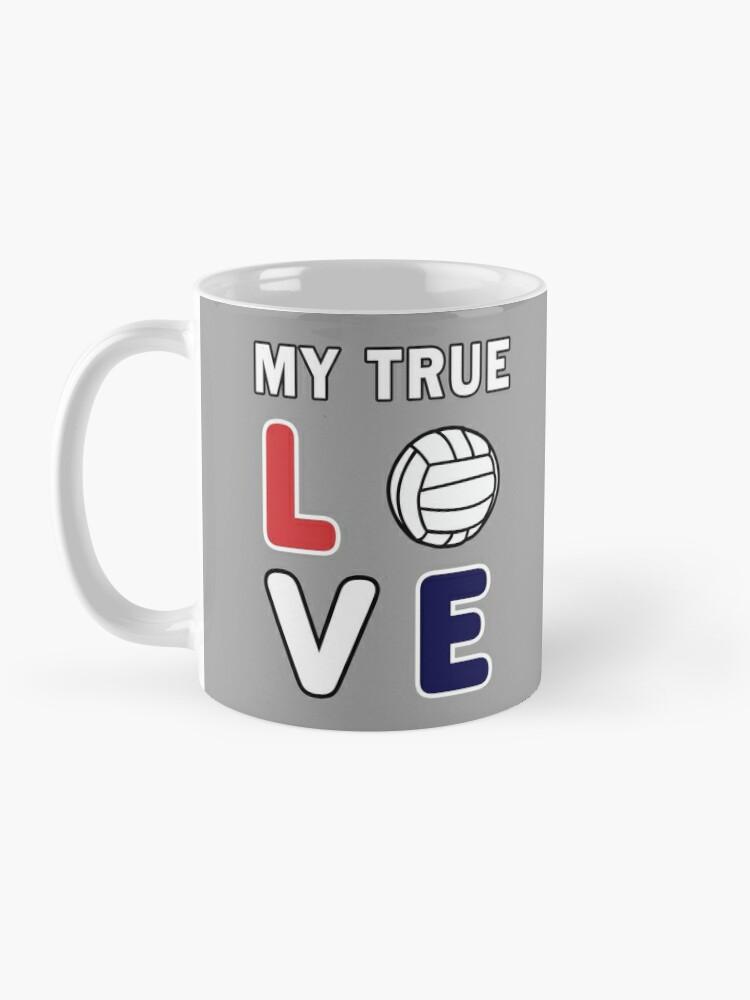 Alternate view of Volleyball My True Love Sportive V-Ball Team Gift. Mug