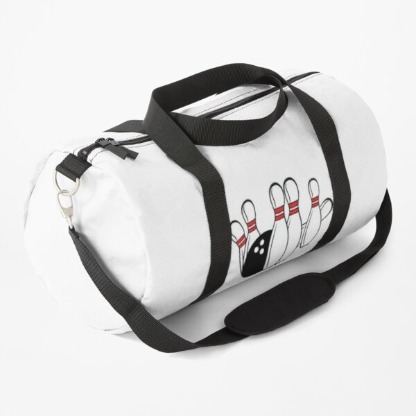 Bowling ball and pins Duffle Bag