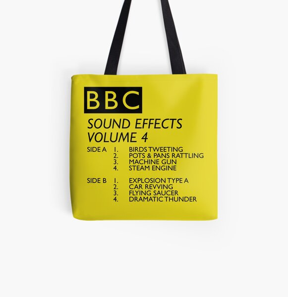 BBC Sound Effects Volume 4 All Over Print Tote Bag