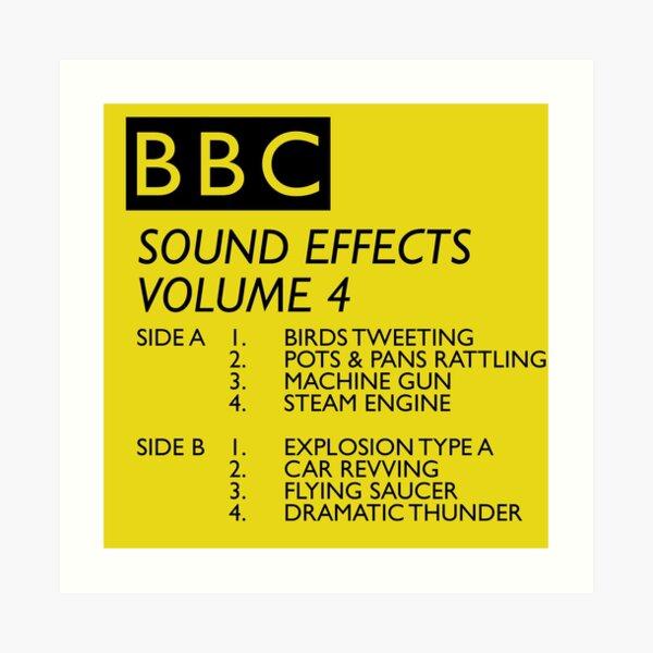 BBC Sound Effects Volume 4 Art Print
