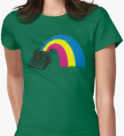 Retro Rainbow Typewriter T-shirt
