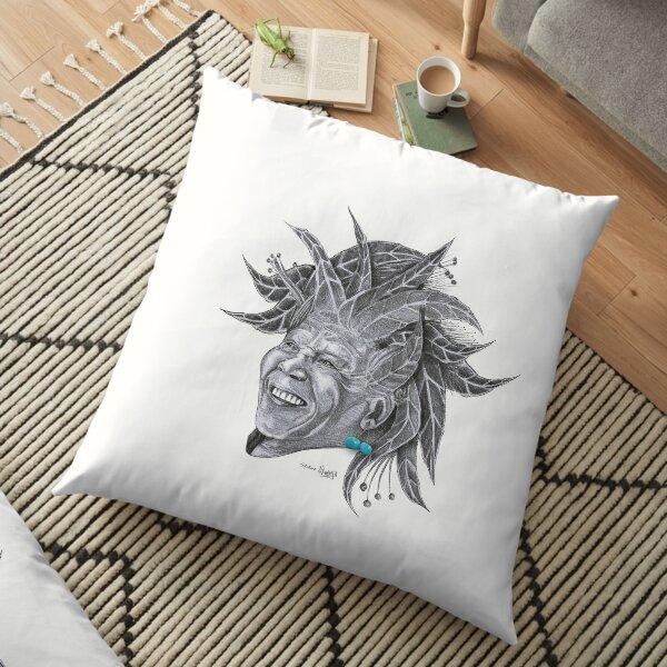Sundela - Mandela in the Sun Floor Pillow