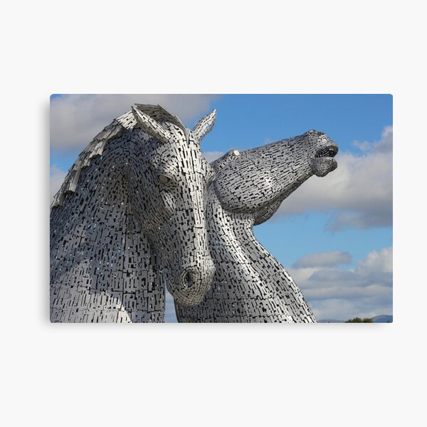 The Falkirk Kelpies in Scotland Canvas Print