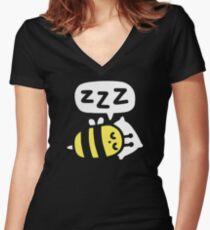 Slumber Bee Women's Fitted V-Neck T-Shirt