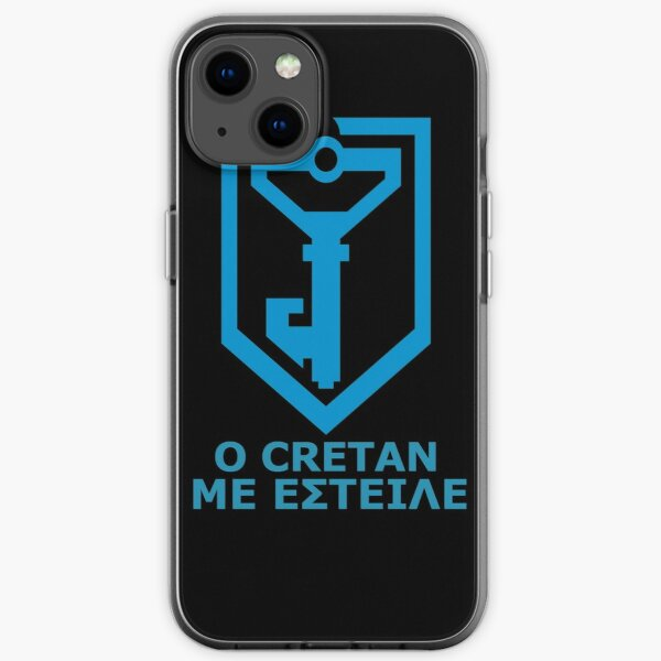Ο Cretan με έστειλε - Greek Resistance iPhone Soft Case