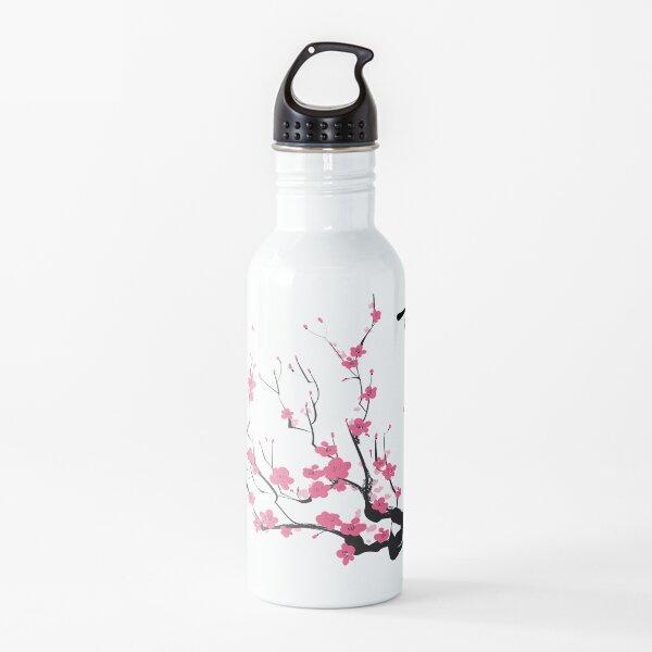 Arte japonés de flor de cerezo Botella de agua